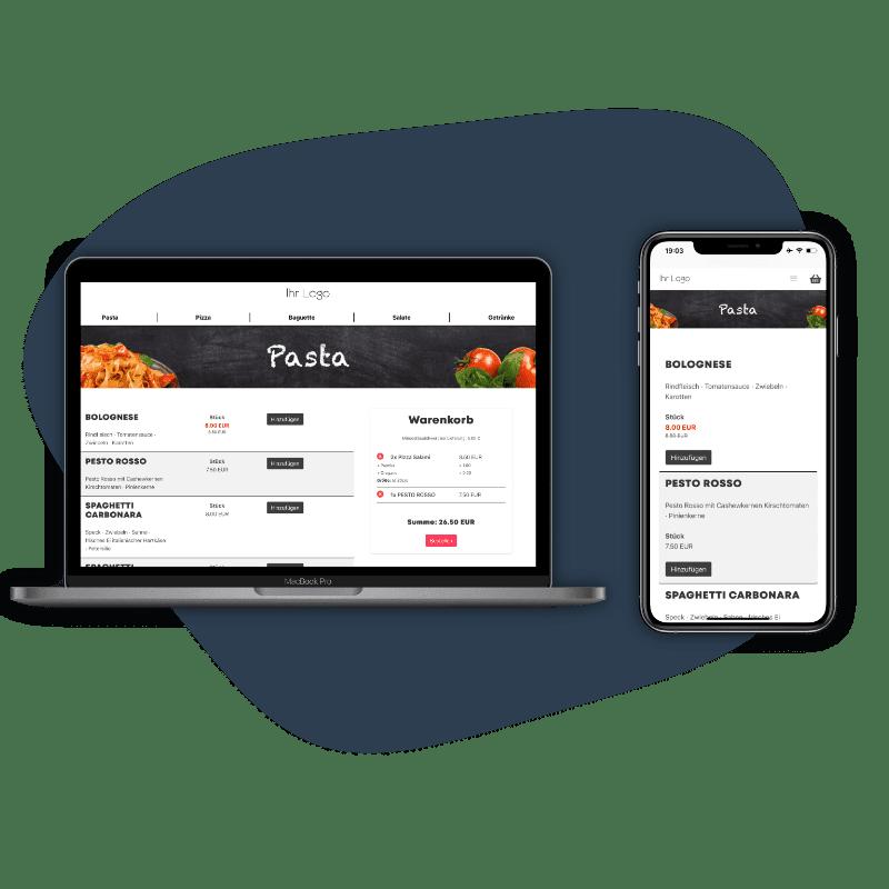 Eigener Online-Shop, Pizza Shop und Liefer-Software für Lieferdienste. Provisionsfrei Lieferung und Abholen mit dem Foodsta Online Shop.