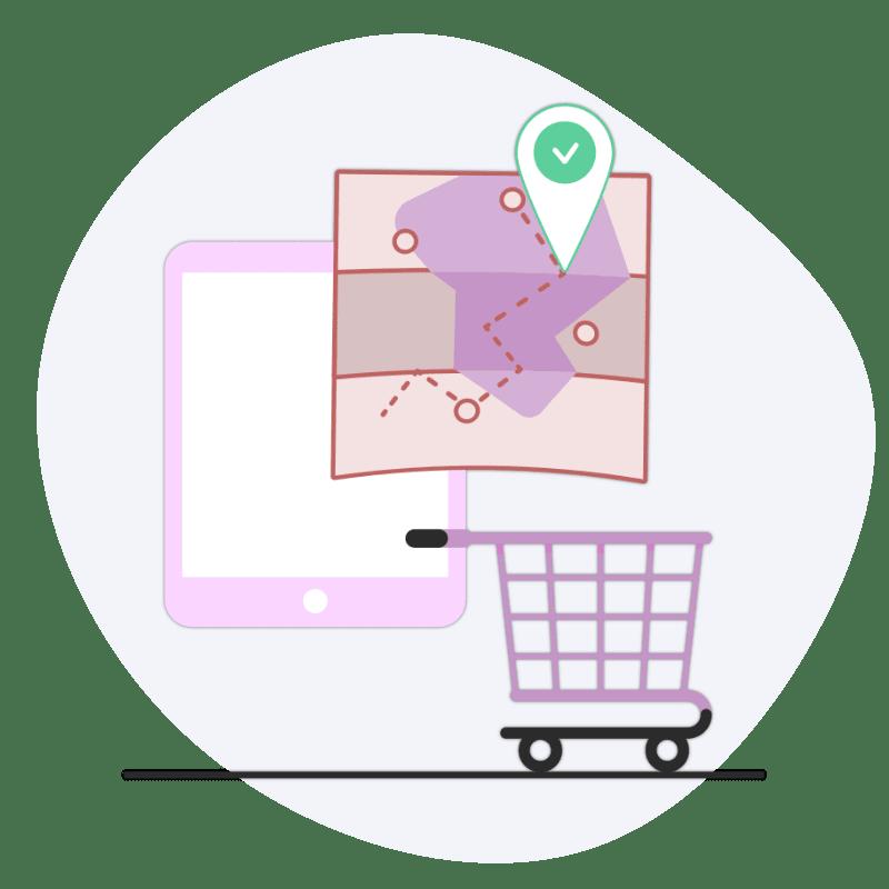 Lieferdienst Online-Shop