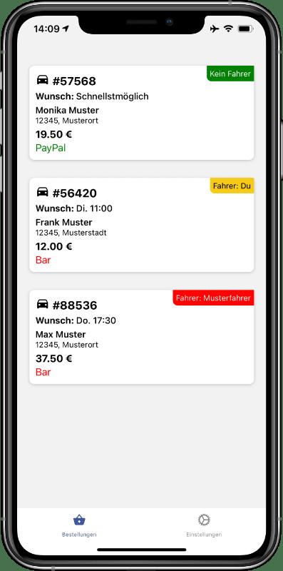 Fahrer in Lieferdiensten und Bringdiensten erhalten eine eigene Lieferdienst App, mit der sie Bestellungen einfach und schnell ausliefern können.